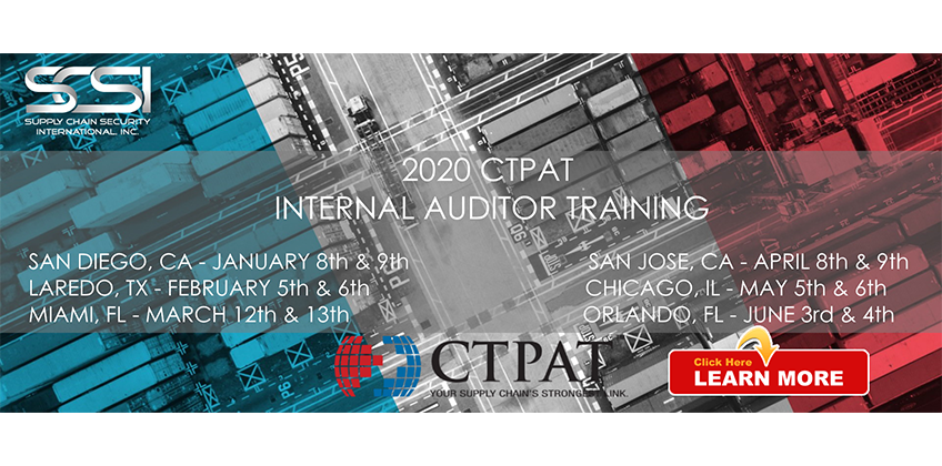 2020 CTPAT Internal Auditor Training Schedule Released