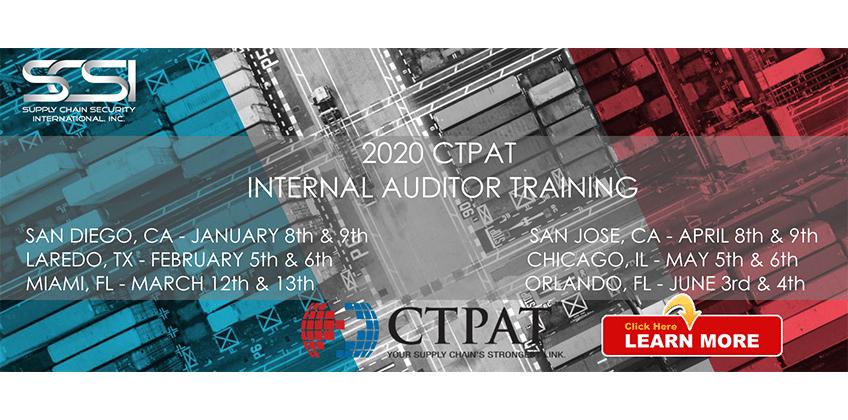 2020 CTPAT Internal Auditor Training Schedule Released